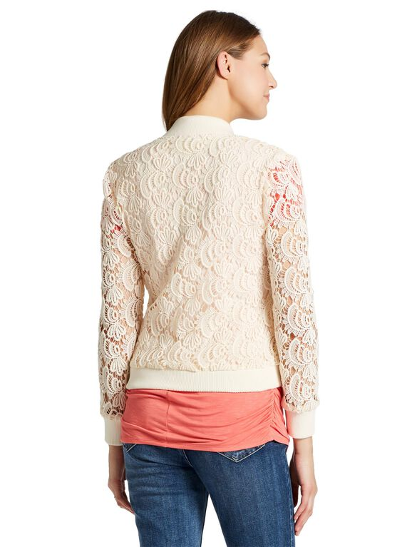 Jessica Simpson Lace Maternity Jacket, Ecru