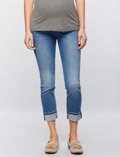 Luxe Essentials Denim Secret Fit Belly Kate Maternity Jeans, Med Wash