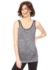 Side Ruched Seamless Maternity Tank Top, Spacedye