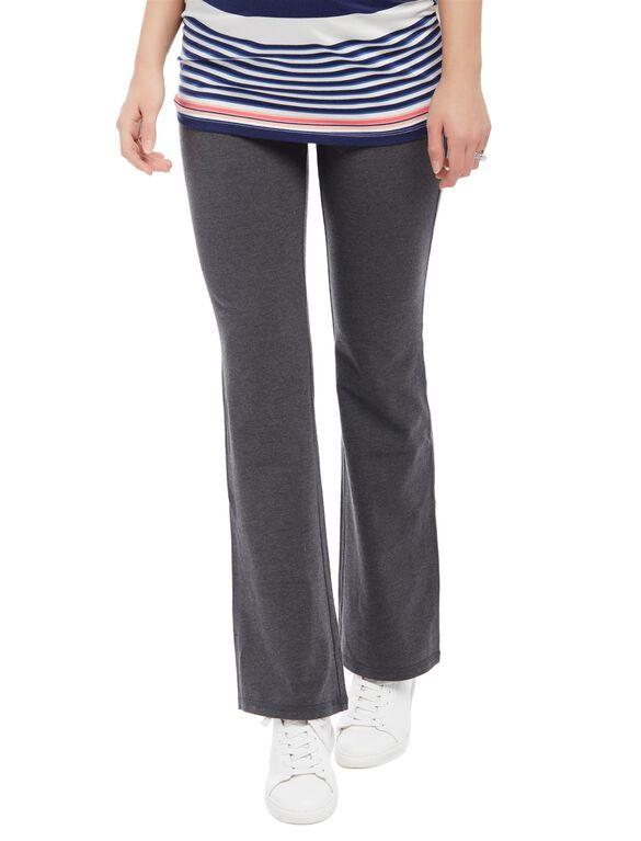 Secret Fit Belly Boot Cut Maternity Yoga Pants, Charcoal Grey