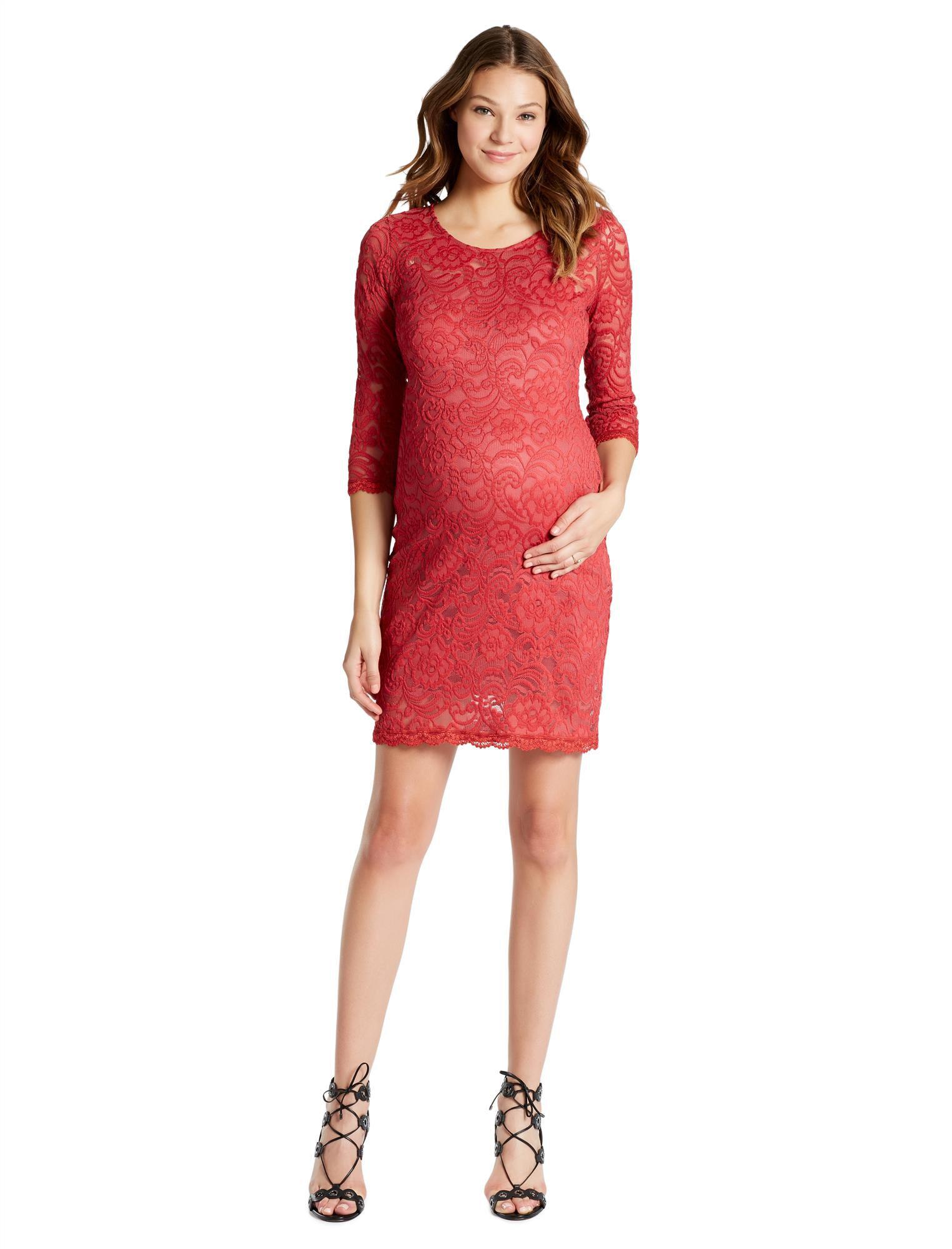 Jessica Simpson Lace Body Con Maternity Dress