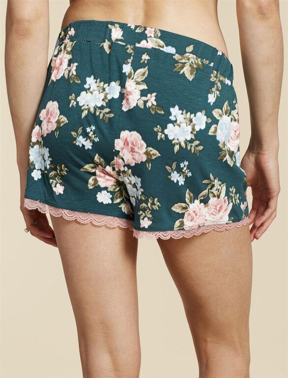 Jessica Simpson Lace Trim Nursing 2 Piece Set, Pacific Floral