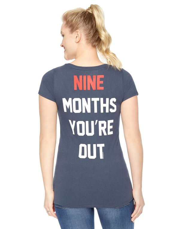Minnesota Twins MLB Short Sleeve Maternity Tee, Twins