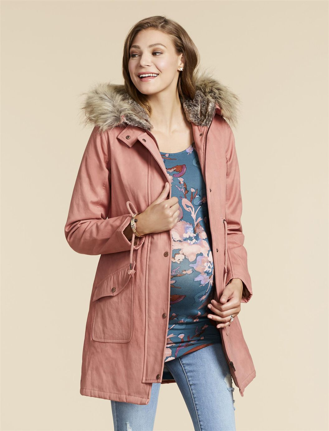Jessica Simpson Maternity Anorak Jacket at Motherhood Maternity in Victor, NY | Tuggl