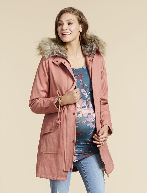 Jessica Simpson Maternity Anorak Jacket, Rose Pink