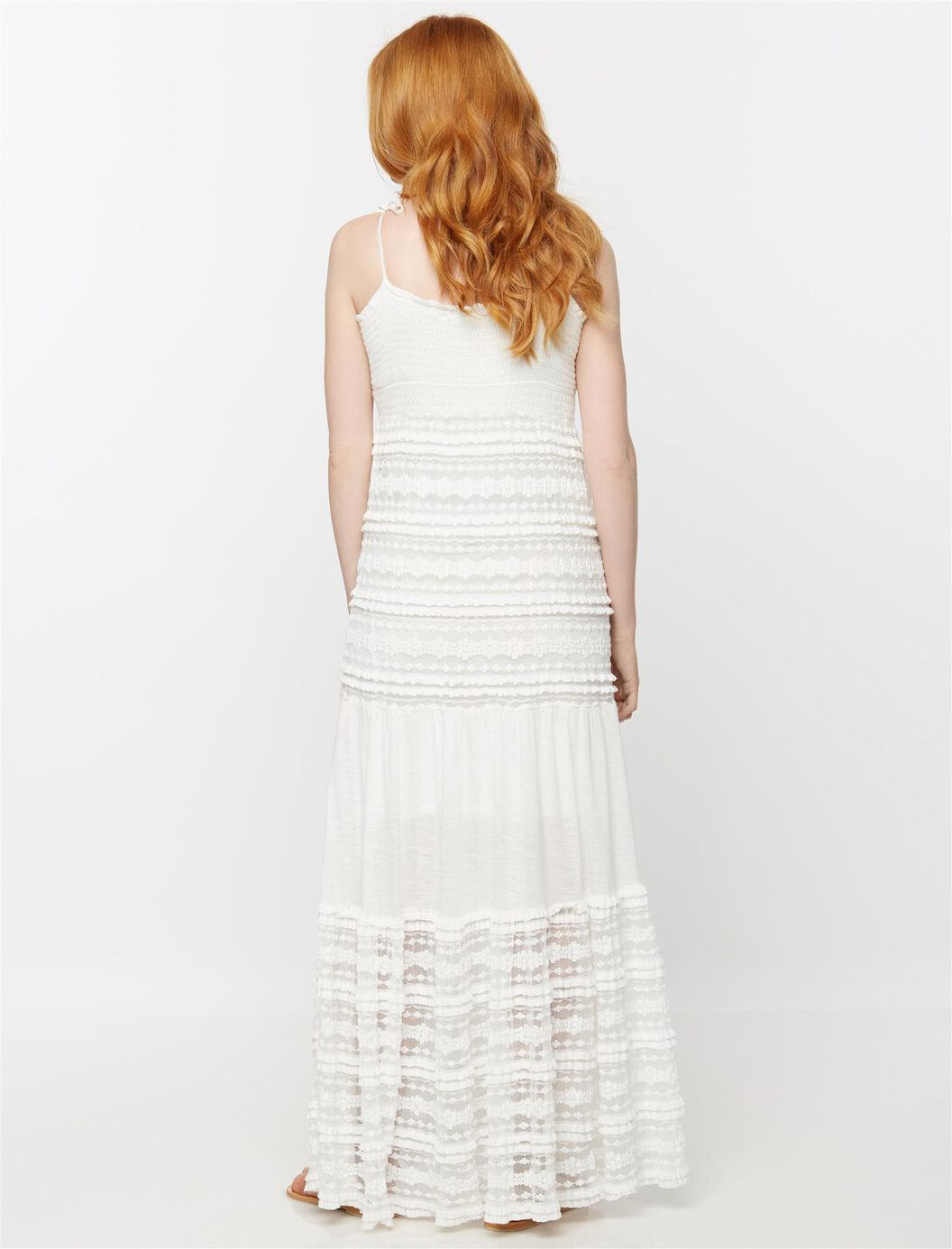 Tiered lace maternity maxi dress destination maternity tiered lace maternity maxi dress white ombrellifo Gallery