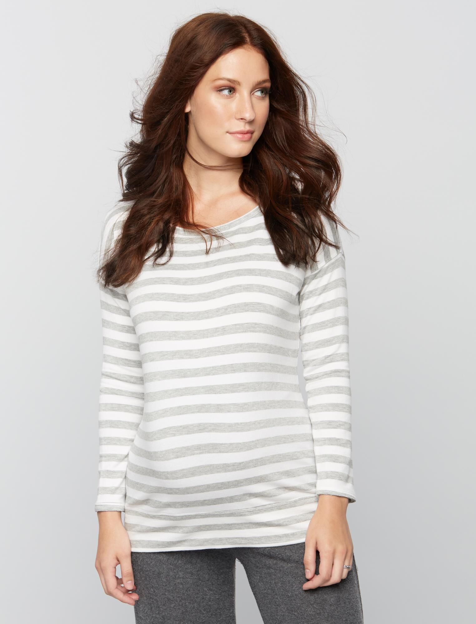 Striped Maternity Sweatshirt