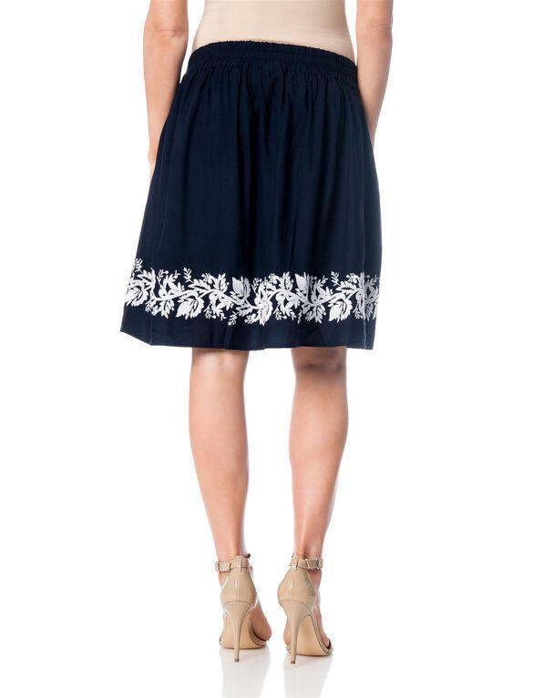 Smock Waist A-line Maternity Skirt, Navy
