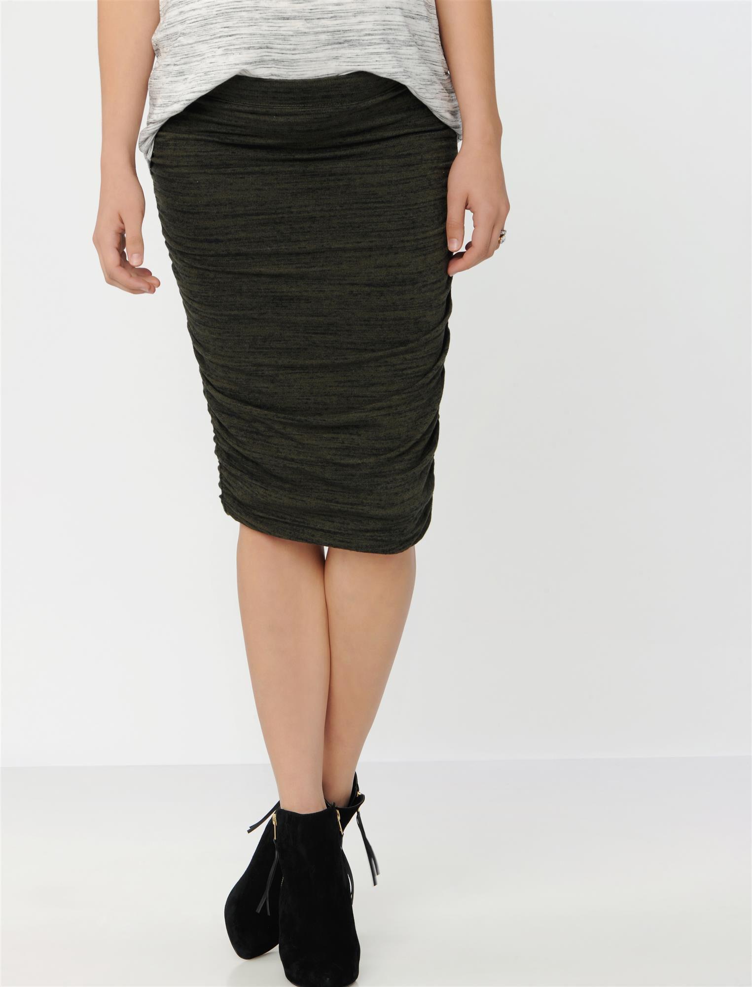 Splendid No Belly Maternity Skirt