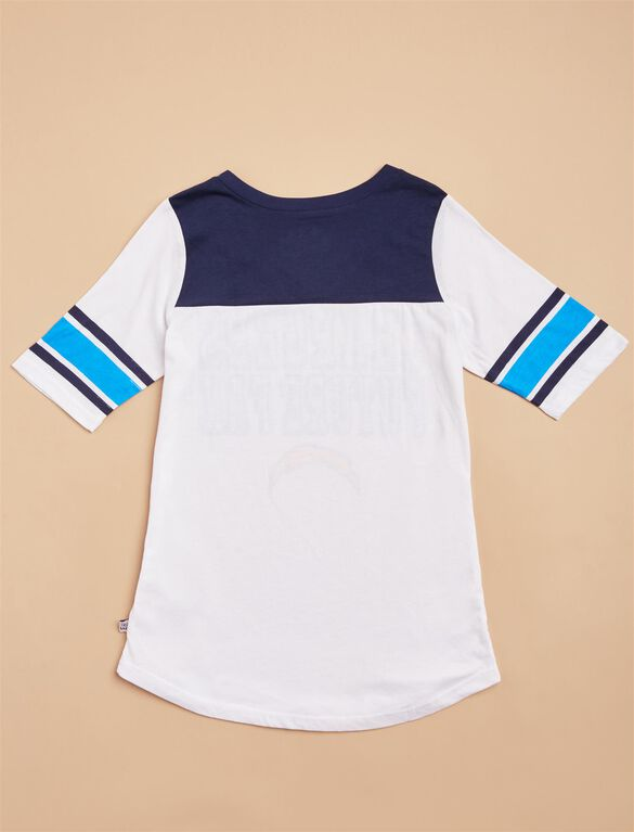 Los Angeles Chargers NFL Future Fan Maternity Tee, Chargers