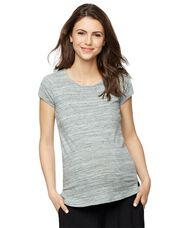 Back Interest Maternity T Shirt, Seafoam Green