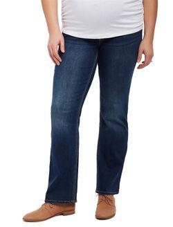 Jessica Simpson Plus Size Petite Secret Fit Belly Boot Cut Maternity Jeans, DARK WASH