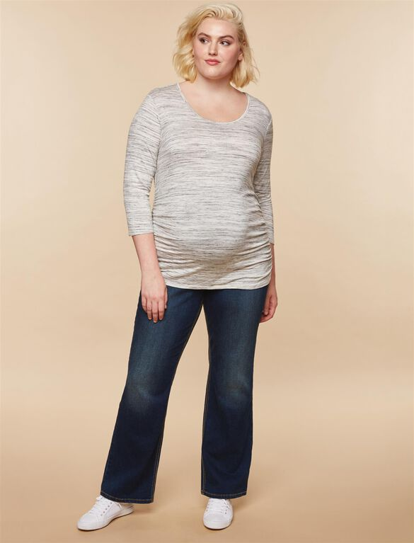 Jessica Simpson Plus Size Secret Fit Belly Dark Boot Maternity Jeans, Dark Wash