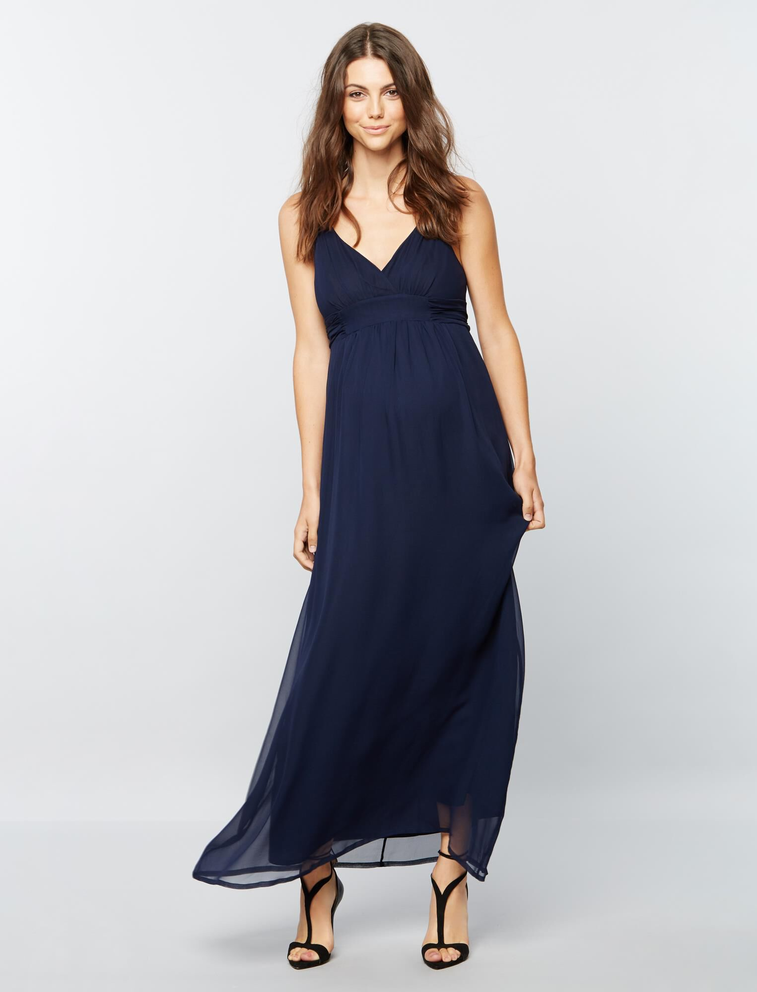 Pietro Brunelli Ruched Maternity Maxi Dress
