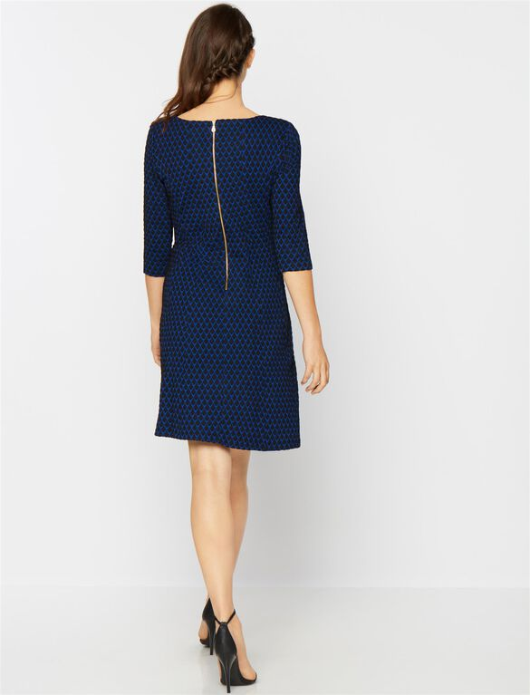 Taylor Fit And Flare Maternity Dress, Royal Blue/Black
