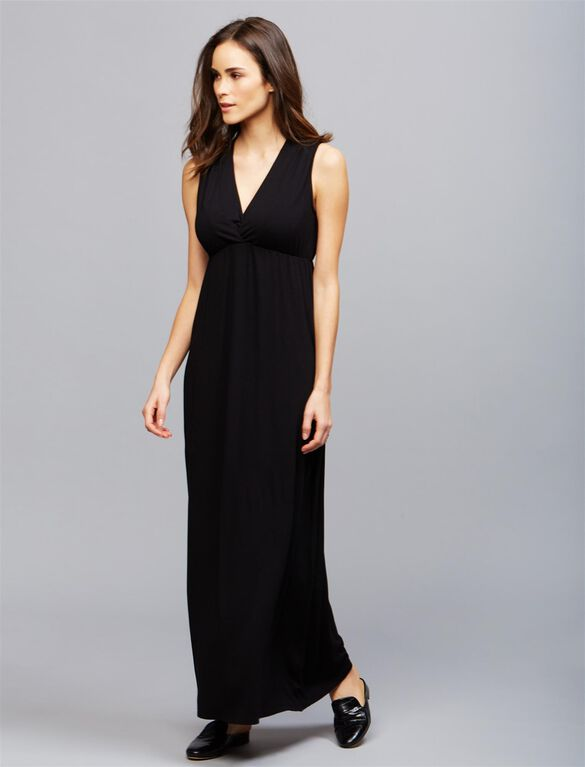 Ripe Virtue Nursing Maxi Dress, BLACK