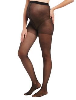 Sheer Maternity Hosiery With Lycra Spandex, Black