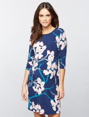 Floral Maternity Sheath Dress, Navy Floral