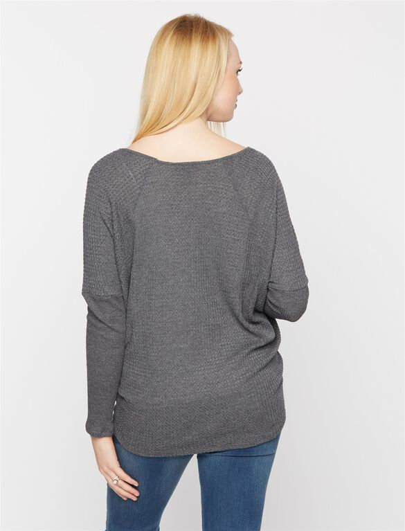 Maternity T Shirt, Heather Charcoal