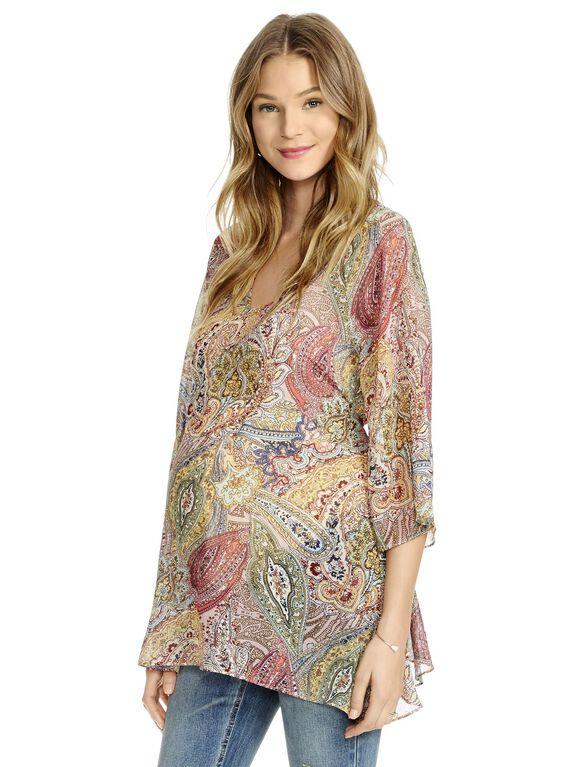 Jessica Simpson Paisley Print Maternity Top, Paisley Print