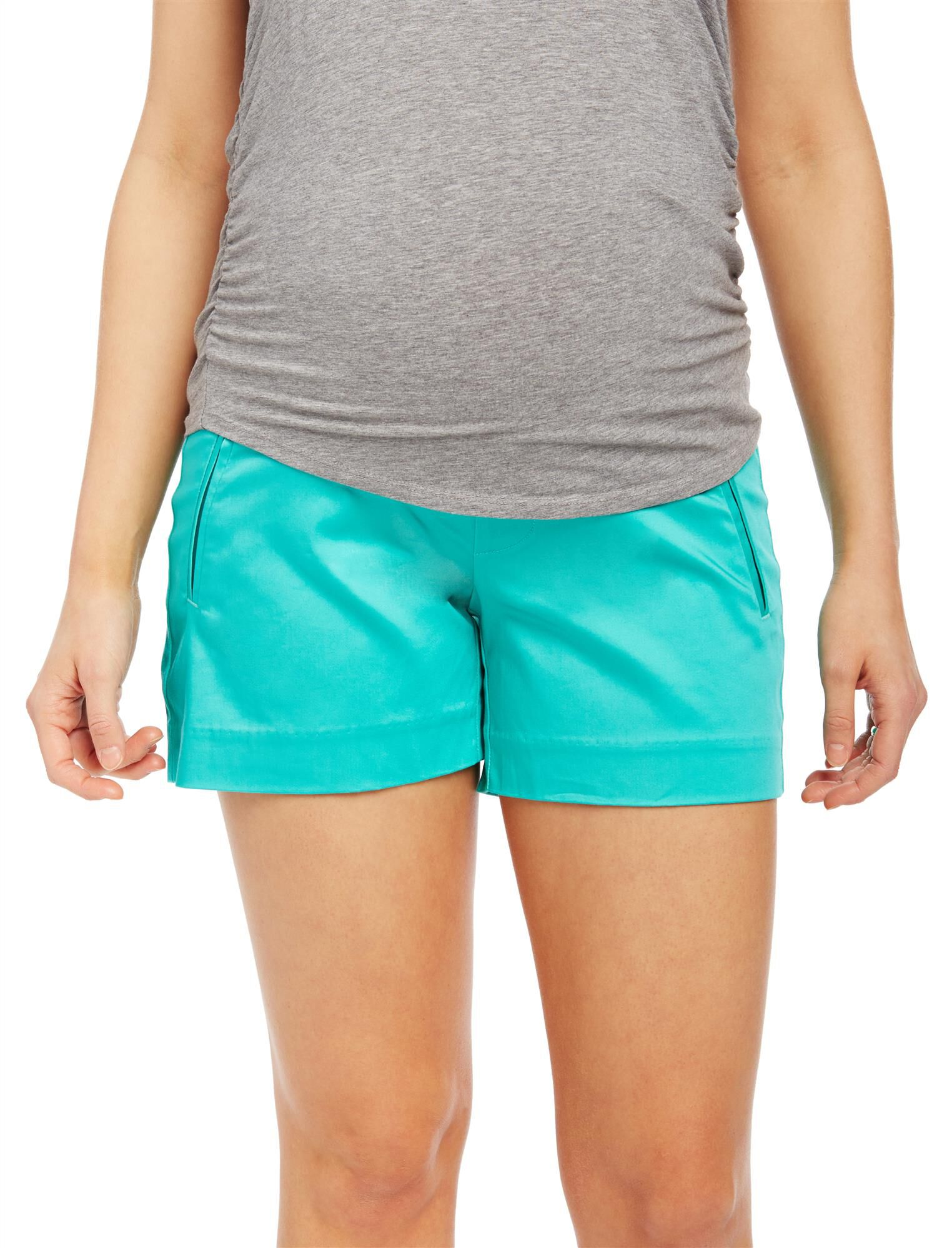 Secret Fit Belly Sateen Maternity Shorts