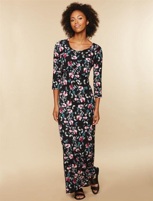 Floral Nursing Maxi Dress, Floral