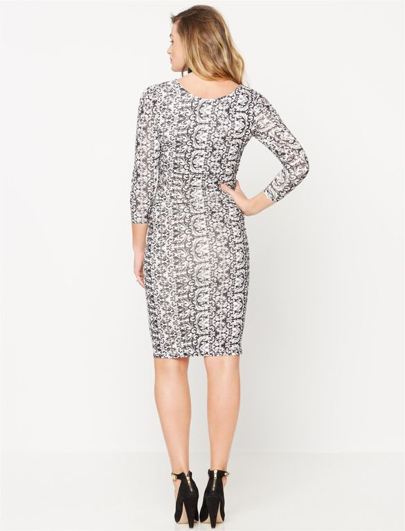 Isabella Oliver Maternity T-shirt Dress, Brocade Print