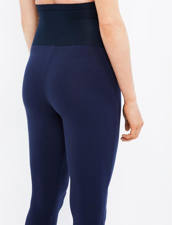 Splendid Secret Fit Belly French Terry Maternity Leggings, Navy