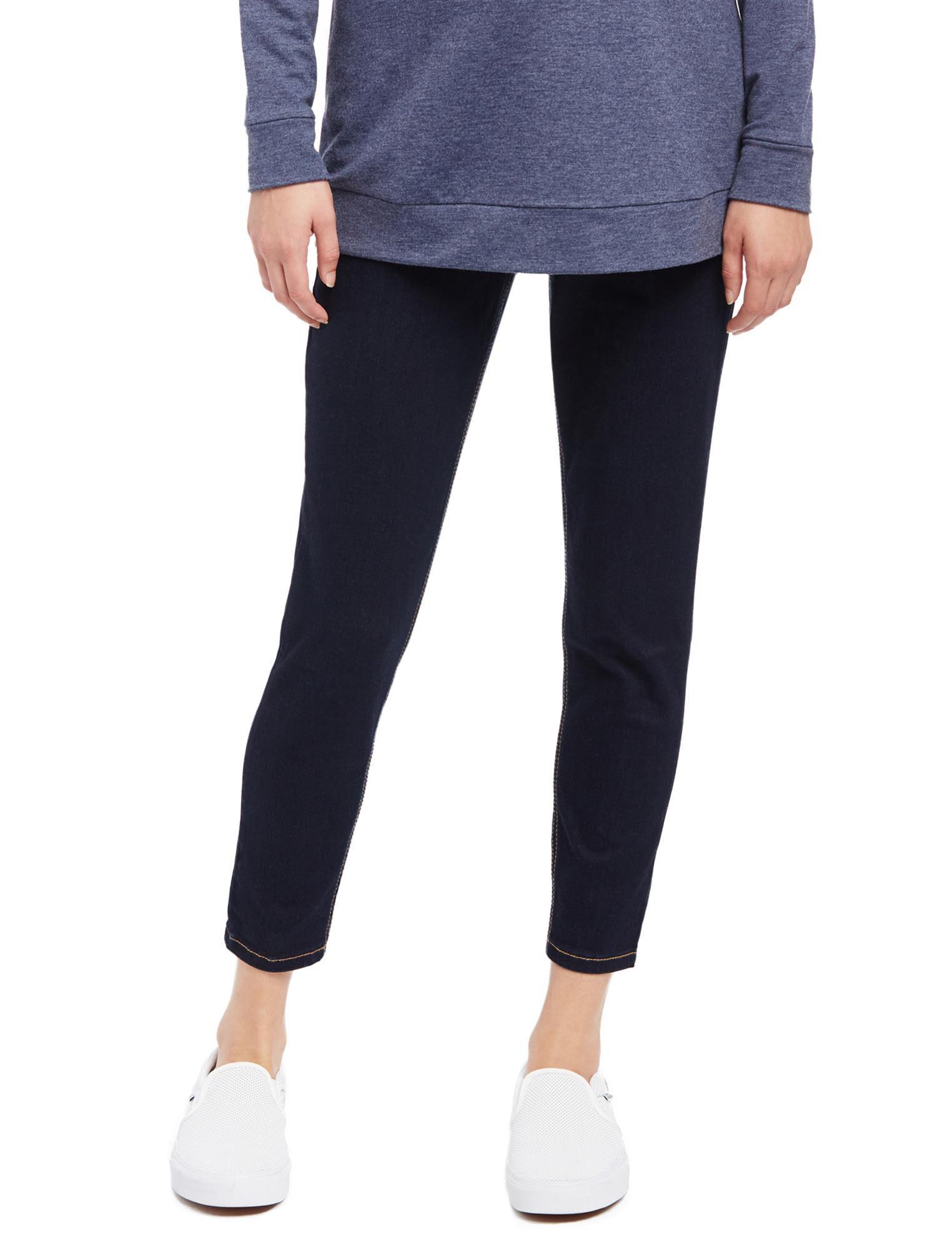 Secret Fit Belly Skinny Leg Maternity Crop Jeans