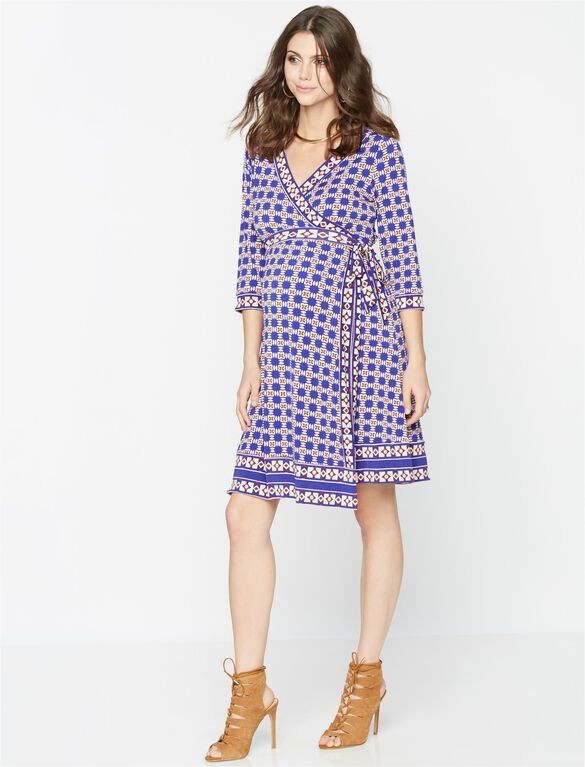 Wrap Maternity Dress, Multi Print