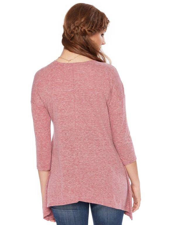 Wendy Bellissimo Love Grows Here Maternity Top, Burgundy