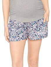 Secret Fit Belly Soft Maternity Shorts- Floral, Floral Print