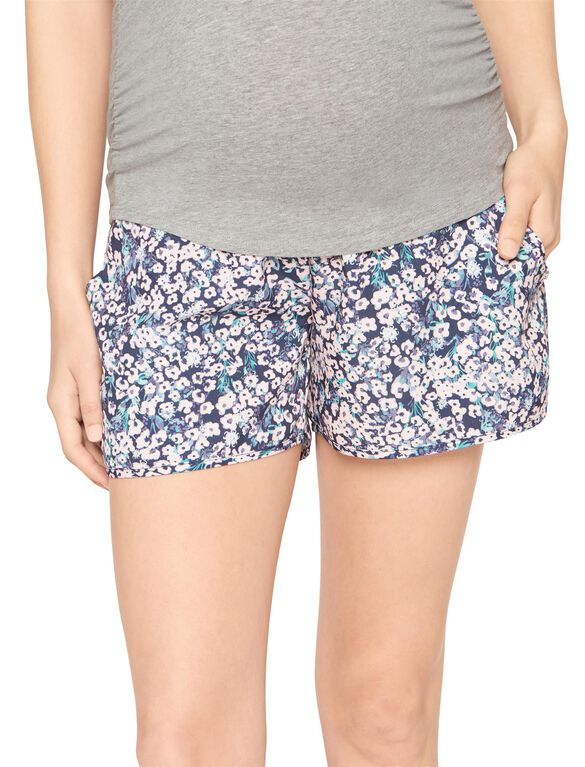 Secret Fit Belly Soft Maternity Shorts- Floral, Floral Print