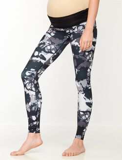Beyond The Bump Fold Over Belly Maternity Leggings, Shadow Print