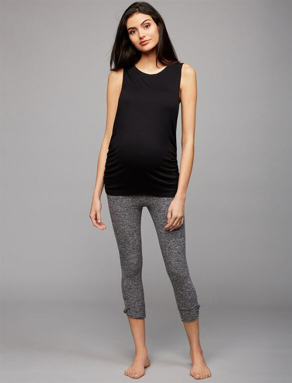 Beyond The Bump Maternity Leggings, Black/White