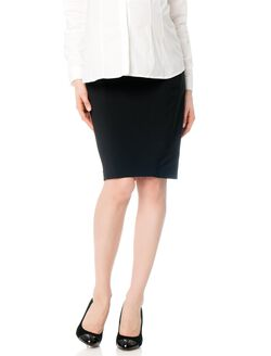 Secret Fit Belly Twill Pencil Fit Maternity Skirt, Black