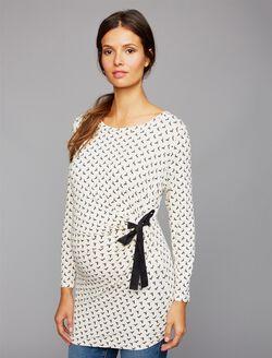 Envie De Fraise Jane Bow Detail Maternity Top, Origami Print