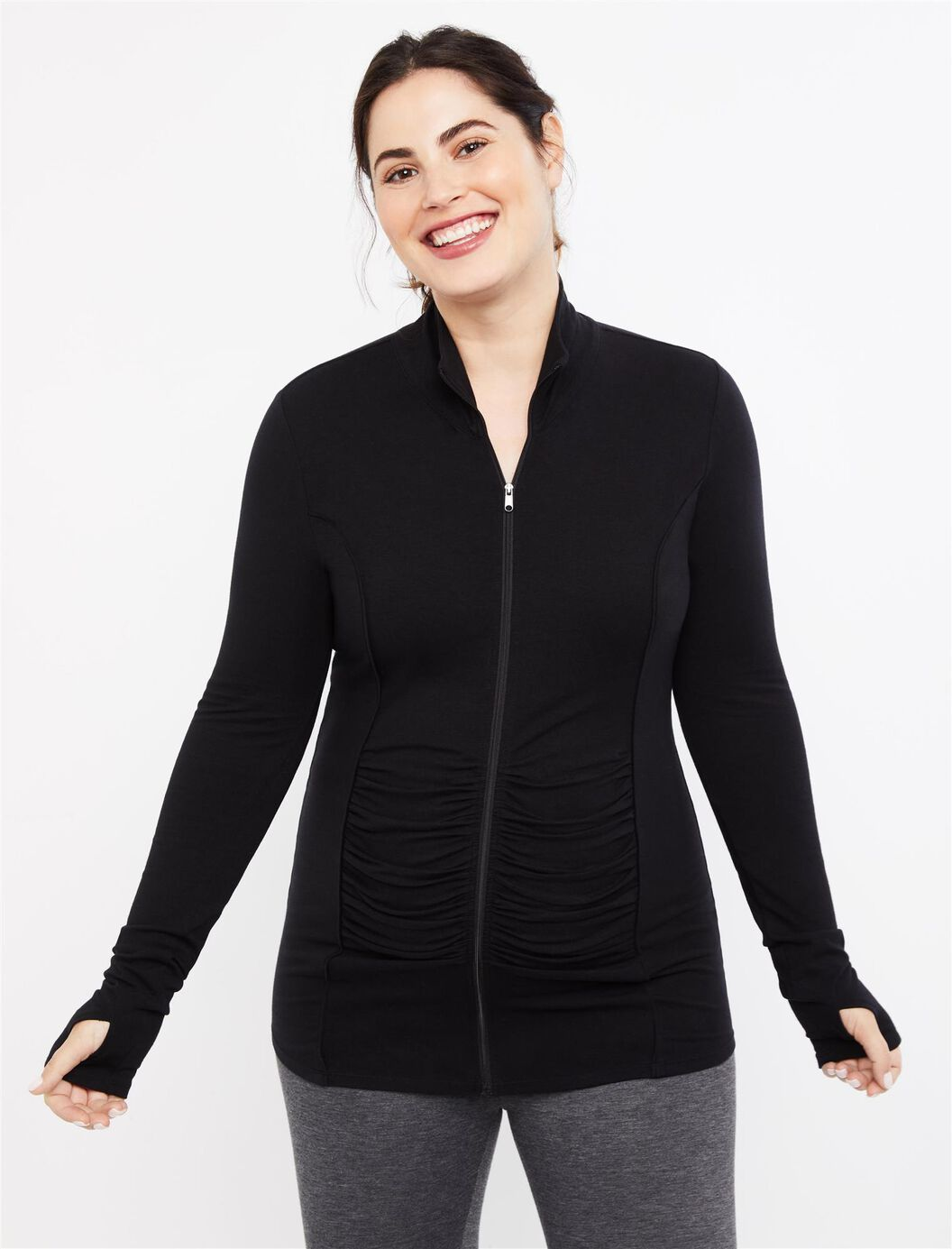 Zip Front Maternity Active Jacket at Motherhood Maternity in Victor, NY | Tuggl
