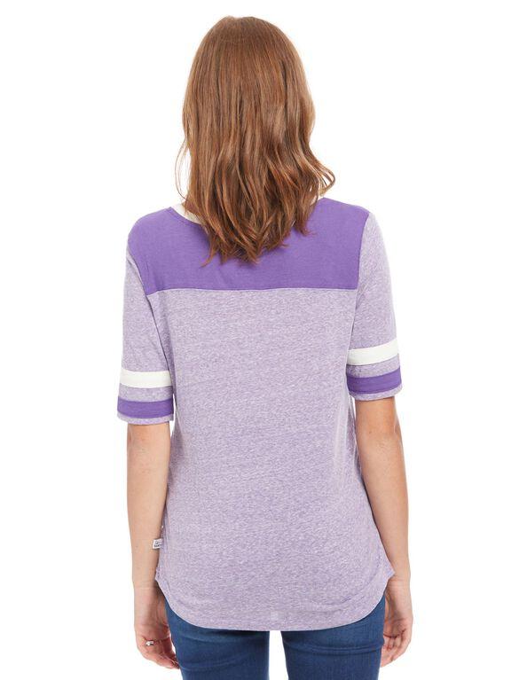 Minnesota Vikings NFL Elbow Sleeve Maternity Graphic Tee, Vikings Purple