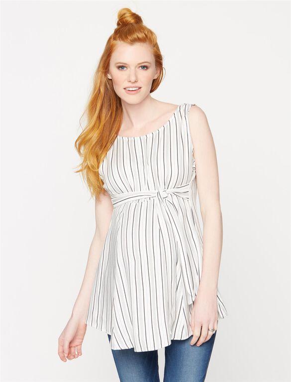 Isabella Oliver Brunell Striped Maternity Top, Stripe