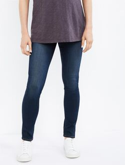 Paige Denim Under Belly Skinny Leg Maternity Jeans, Dark Wash