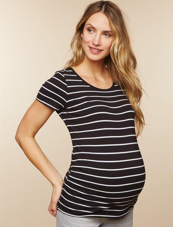 BumpStart Maternity Tee (2 Pack), Stripe/White