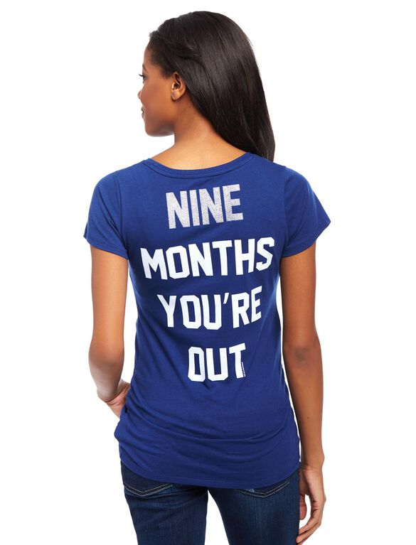 Seattle Mariners MLB You're Out Maternity Tee, Mariners Navy