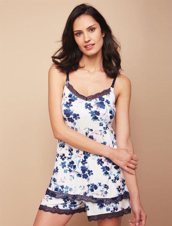 Web Only Jessica Simpson Lace Trim Maternity 2 Piece Set, Floral