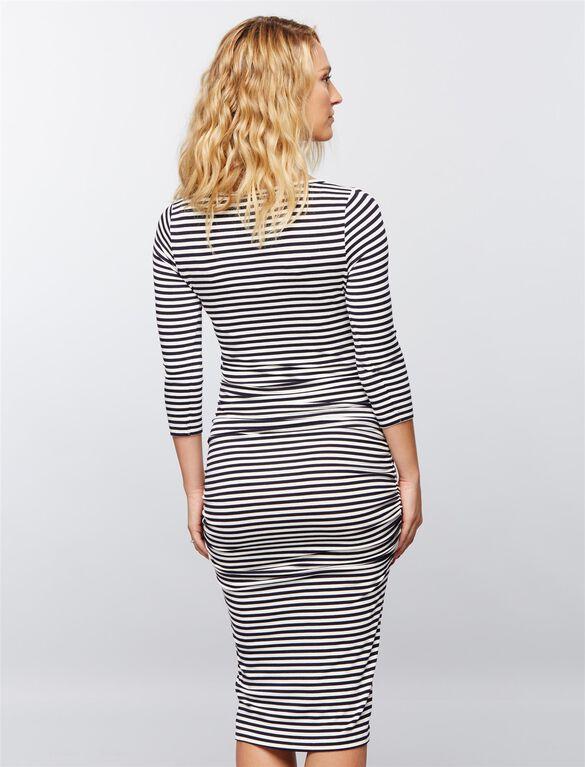 Isabella Oliver Arlington Striped Maternity Dress, Blue/White Stripe