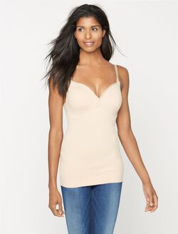Clip Down Shaping Panel Nursing Cami, Nude