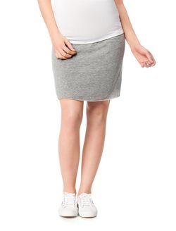 Maternity Skirt, Lt Heather Grey