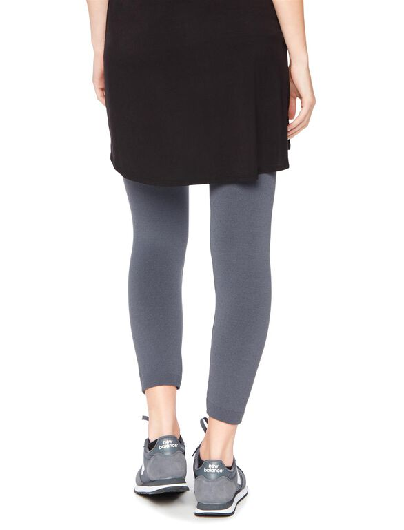 Fleece Lined Legging Heather Grey, Heather Grey