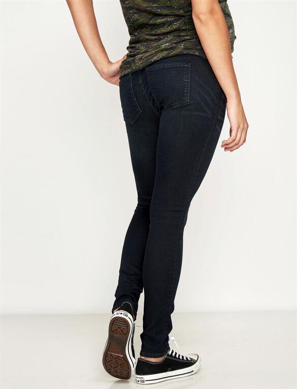 Luxe Essentials Denim Skinny Dark Wash Maternity Jean, Dark Wash