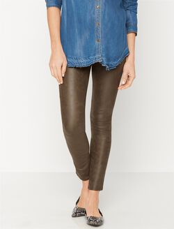 7 For Mankind Secret Fit Belly Skinny Leg Maternity Pants, Mink Leather-like